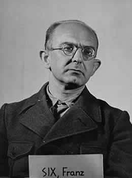 Dr. Franz Alfred Six at Nuremberg, 1948.
