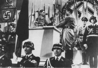 Combining Sudeten German Party and NSDAP, October 1938.