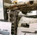Stuka engine and wing in poor condition.