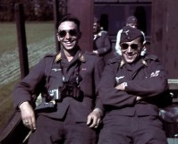Two Luftwaffe airmen with the rank of Gefreiter and Obergefreiter.