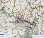 Map of Prussian and German offensive, 5–6 August 1870.
