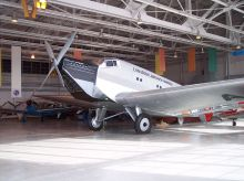 """Ju 52/1m replica (converted from 52/3m) of """"CF-ARM"""" at the Royal Aviation Museum of Western Canada, Winnipeg, Manitoba, Canada."""