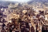 Saint-Lô, 95% destroyed after the 1944 bombardments, known as The Capital of Ruins.