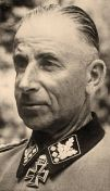 "SS Colonel Group Leader and Colonel General of the Waffen SS Paul ""Papa"" Hausser."