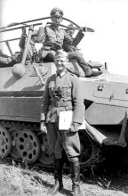 Werner Kempf in the halftrack.