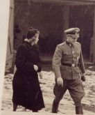 On 3 November 1943 with Traute Eggers, the widow of Kurt Eggers.