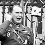 Hermann Göring in a DLV uniform, u. a. with the sports wreath of the Ring of the National Motor and Aviation Movement (RKL) in gold (left), ca. 1935.