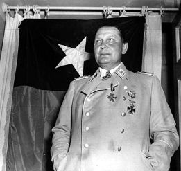Goering on May 10, 1945, one day after his capture by the Americans of the 36th Infantry Division.