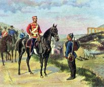 General of the Cavalry Friedrich Karl Nikolaus Prince of Prussia before Metz, 27 October 1870.
