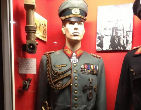 Uniform of the General of the Panzertruppe Karl Mauss in Armed Forces History Museum in Largo, Florida.