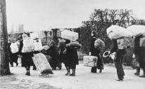 Germans fleeing from eastern Europe after the Second World War.