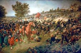 Attack of the Württemberger in the Battle of Wörth.