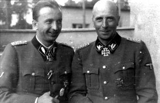 SS brigade leader Wilhelm Bittrich (right) and SS Standartenführer Hermann Fegelein on 21 June 1942 on the Eastern Front.