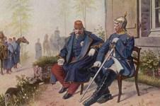 Otto von Bismarck (right) and Napoleon III.
