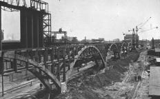 IG Farben synthetic oil plant under construction at Buna Werke. 1941.