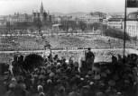 Hitler proclaims the Anschluss on the Heldenplatz, Vienna, 15 March 1938.
