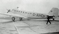 Ju 52/3m of British European Airways in 1947.