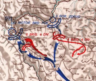 The assault by the 92nd Motorised Regiment kampfgruppe on 25 May 1944.