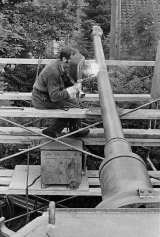 Gun being repaired.