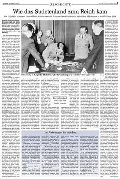 Newspaper on the agreement.