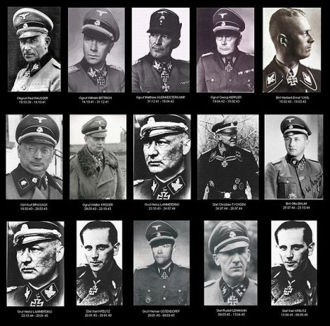 "Commanders of the 2nd SS Panzer Division ""Das Reich""."
