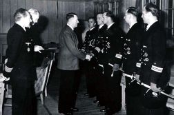 "Eichenlaubverleihung on 4 July 1943 at the Führer headquarters ""Wolfsschanze"" to (from left) Gerhard von Kamptz , Siegfried Wuppermann, Otto von Bülow , Georg Lassen and Werner Henke."