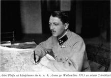 In Romanian uniform.