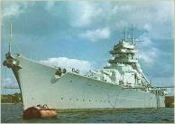 Bismarck in port.