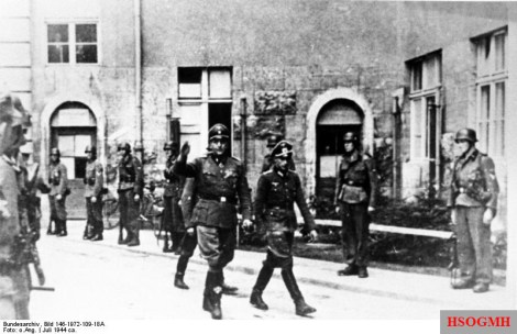 Waffen-SS officer Otto Skorzeny enters the Bendlerblock, July 1944.