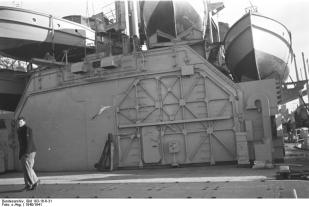 Sailor on the deck of the Bismarck.