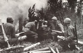 A Finnish army Pak 40 in firing position during the Continuation War.