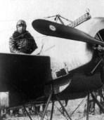 Leutnant Max Immelmann with his first Fokker Eindecker, E.13/15.