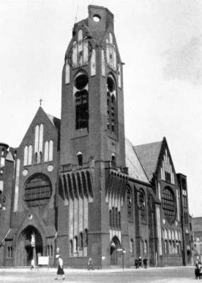 The Reformation Church in Moabit, damaged in the night of 22–23 November, 1943.
