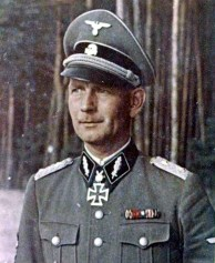 "SS-Standartenführer Otto Kumm, seen here as a commander of SS-Panzergrenadier-Regiment ""Der Führer"" / SS-Panzergrenadier-Division ""Das Reich"" ."