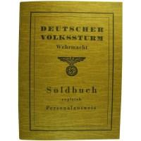 Volkssturm Soldbuch.
