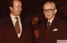 Wolf Rüdiger Hess and Karl Dönitz at a postwar event for the release of Rudolf Hess.