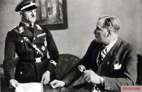 Josef Dietrich with Hitler's adjutant Wilhelm Friedrich Brückner in the Führer's apartment, Berlin.
