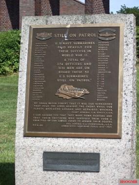 Plaque memorializing fallen U.S. submariners.