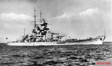 Gneisenau after her second bow alteration in 1942.