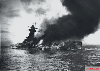 Admiral Graf Spee shortly after her scuttling.