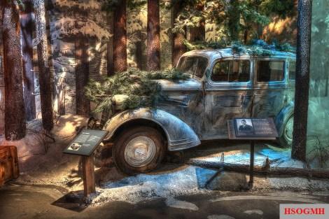 1934 Opel Sedan in winter camouflage.