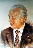 Painting of Hans-Ulrich Rudel in later life.
