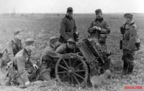 Training on the 7.5 cm leichtes Infanteriegeschütz 18.