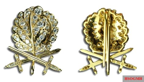 Special stage: Golden Oak Leaves with Swords and Diamonds to the Knight's Cross of the Iron Cross.
