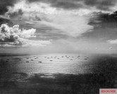 An Allied convoy heads eastward across the Atlantic, bound for Casablanca, in November 1942.