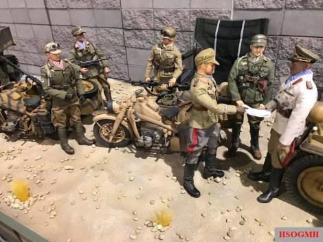 Afrika Korps and Rommel diorama.