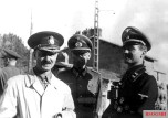 Major General Radu Korne (left) and SS Sturmbannführer Max Wünsche (right) in September 1943 on the Eastern Front.