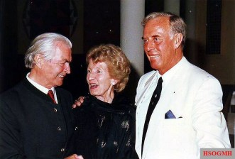 Max Wünsche (left), Otto Günsche and his wife.