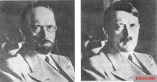 Hitler depicted by the United States Secret Service in 1944 to show how he might disguise himself to try to evade capture.