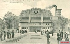 The later Luitpold Hall as machine hall, postcard from 1906.